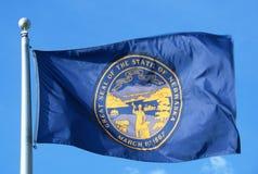 State Flag of Nebraska. Waving Stock Photo