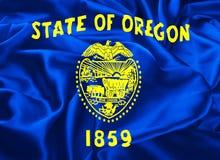 State Flag of Oregon. The national flag of the State of Oregon, Salem - United States Stock Image