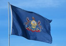 State Flag of Pennsylvania Stock Photography
