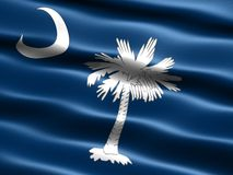State flag of South Carolina. Computer generated illustration of the flag of the state of South Carolina with silky appearance and waves royalty free illustration