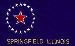 State Flag of Springfield - city in the Midwest, the capital of. The national flag of Springfield - city in the Midwest, the capital of the State of Illinois royalty free stock images
