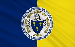State Flag of Trenton - a city on the east coast of the United S vector illustration