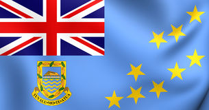 State Flag of the Tuvalu Stock Photography