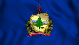 The state flag of Vermont stock illustration