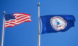 State Flag of Virginia Royalty Free Stock Images
