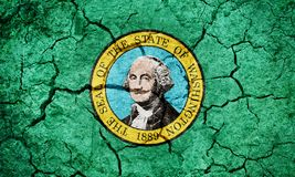 State flag of Washington royalty free illustration