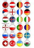 State flags. Flags of countries participating in the football tournament Euro 2016 royalty free illustration