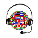State flags and headphones Royalty Free Stock Photo