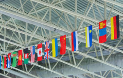 State flags under ceiling Royalty Free Stock Images