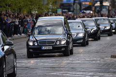 The state funeral of the former President of Finland Mauno Koivisto. HELSINKI, FINLAND - 25 May 2017: The state funeral and cortege of the former President of Stock Image