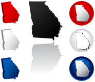State of Georgia Icons Royalty Free Stock Photo