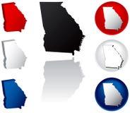 State of Georgia Icons Royalty Free Stock Photo