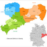 State of Germany - Saxony Stock Photo
