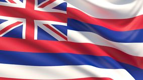 State of Hawaii flag. Flags of the states of USA. royalty free stock photography