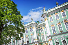 State Hermitage museum facade in St Petersburg, Russia Royalty Free Stock Image