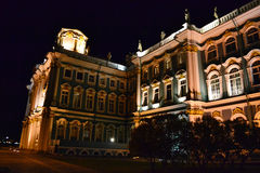 The State Hermitage Museum at night Royalty Free Stock Image