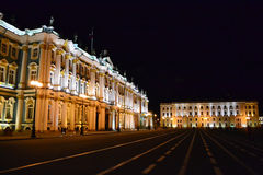 The State Hermitage Museum at night Stock Images