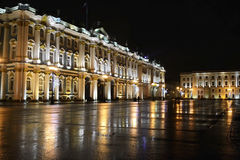The State Hermitage Museum at night royalty free stock photos