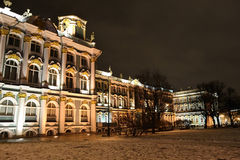 The State Hermitage Museum at night Stock Photography