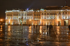 The State Hermitage Museum at night. Stock Photos