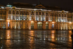 The State Hermitage Museum at night. Royalty Free Stock Photography