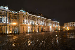 The State Hermitage Museum at night. Royalty Free Stock Photos