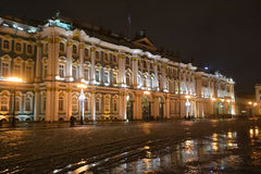 The State Hermitage Museum at night. Stock Photo