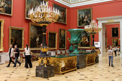 The state Hermitage Museum in St. Petersburg. Stock Photos