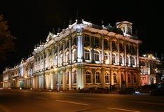 State Hermitage at night. (Saint-Petersburg, Russia Stock Photo