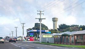 State Highway One passing through Foxton, New Zealand