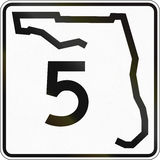 State Highway Shield Florida Royalty Free Stock Image