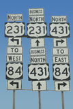 State highway signs Royalty Free Stock Image