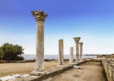 State historical and archeological museum-reserve `Chersonese Taurian `, Crimea. Russia royalty free stock image