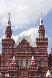 State Historical Museum builsing on the Red Square in Moscow. Stock Images