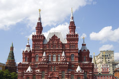 State Historical Museum builsing on the Red Square in Moscow. Stock Photos