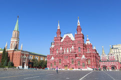 The State Historical Museum in Moscow. This picture is taken at  Moscow, Russia. The Cathedral of Vasily the Blessed Russian Royalty Free Stock Image