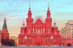 State Historical Museum in Moscow, Russia. State Historical Museum in Moscow on the Red Square, Russia Stock Image