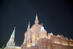 State Historical Museum at night. Moscow, Russia Royalty Free Stock Photos