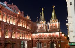 State Historical Museum at night. Moscow, Russia Royalty Free Stock Images
