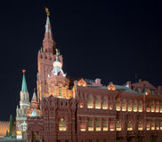 State Historical Museum at night. Moscow, Russia Royalty Free Stock Photography