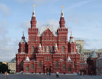 The State Historical Museum on Red Square in the early summer morning - the first unknown to tourists Stock Photo