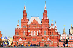 The State Historical Museum between Red Square and Manege Square in Moscow, Russia Stock Photo