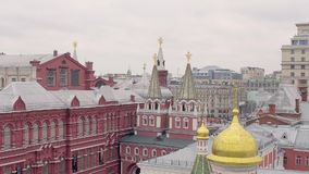 State Historical Museum. On Red Square in Moscow, Russia stock video footage