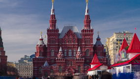 The State Historical Museum of Russia timelapse stock video footage