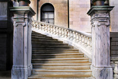 State house stairs. Winding marble staircase at the side entrance of the massachusetts state house, boston Royalty Free Stock Photos
