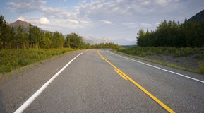 Traveling State Highway 2 Eastern Alaska Outback Royalty Free Stock Images