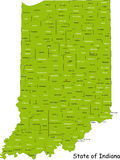 State of Indiana stock photo