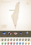 State of Israel. Israel and Asia maps, plus extra set of isometric icons & cartography symbols set (part of the World Maps Set Stock Photos