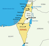 State of Israel - vector map Royalty Free Stock Images