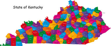 State of Kentucky Stock Photography